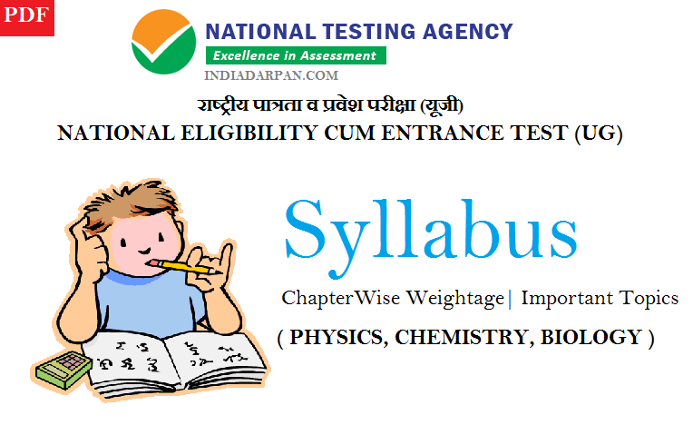 [PDF] NTA NEET 2019 Syllabus – Latest Chapter Wise Weightage