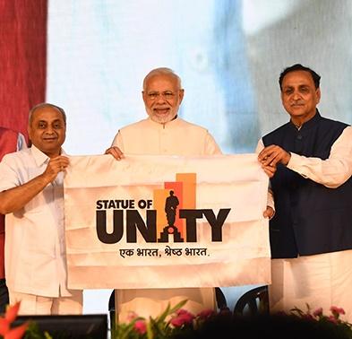 pm narendra modi at statue of unity