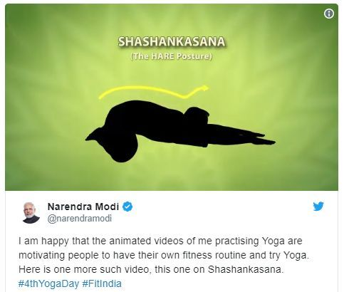 Shashankasana by PM Narendra Modi Video | World Yoga Day 2019