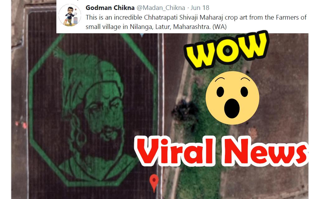 Chhatrapati Shivaji Maharaj Crop Art in Maharashtra : Google Maps